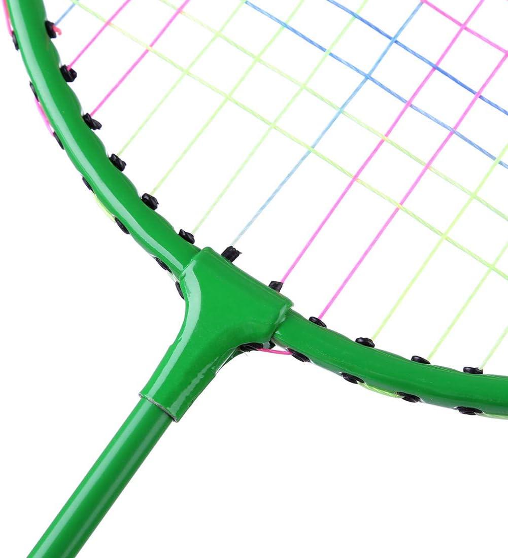 2 in 1 Racket Toy Badminton Tennis Racket,1 x Ball Bag,1 Tennis,6 Nylon Badminton Set Children Outdoor Sports Toys Ggoddess 2pcs