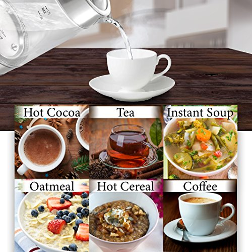 Double Wall Electric Kettle Temperature Control & Spout Filter | BONUS Boiler Fast-Boiling | for Tea &