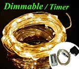 Zzmart USB String Lights, New Version Dimmable & Timer 5V 50ft 150 Leds String Lights - Waterproof Flexible Copper Wire, Holiday Decorative LED Lights for Outdoor and Indoor (50, Warm White)