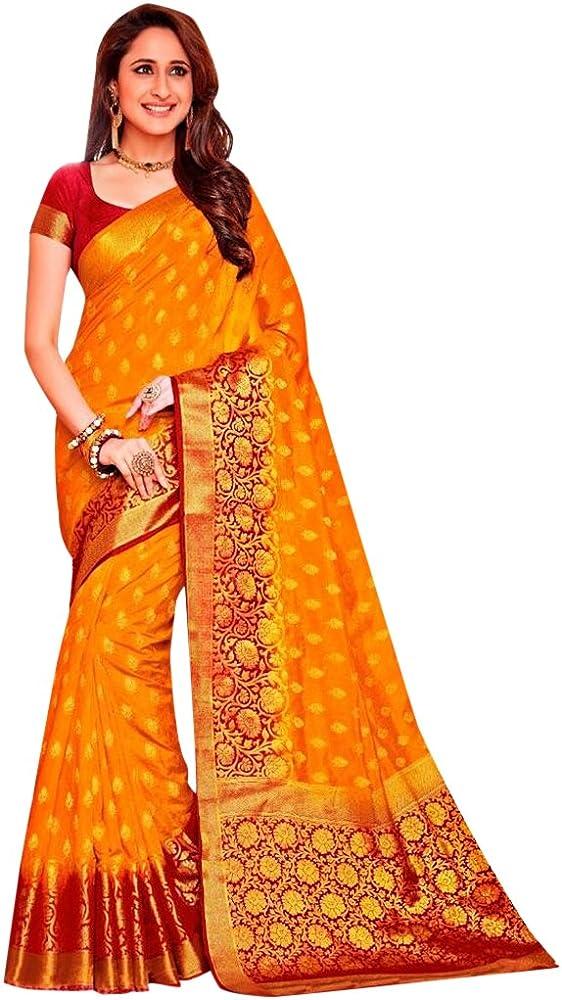 ETHNIC EMPORIUM Diseñador de Vestimenta Tradicional India Sari de Seda con Blusa sin Costuras 569: Amazon.es: Ropa y accesorios