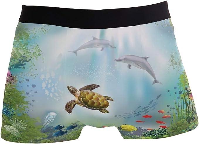 Shark Turtle Boxer Briefs Mens Underwear Pack Seamless Comfort Soft