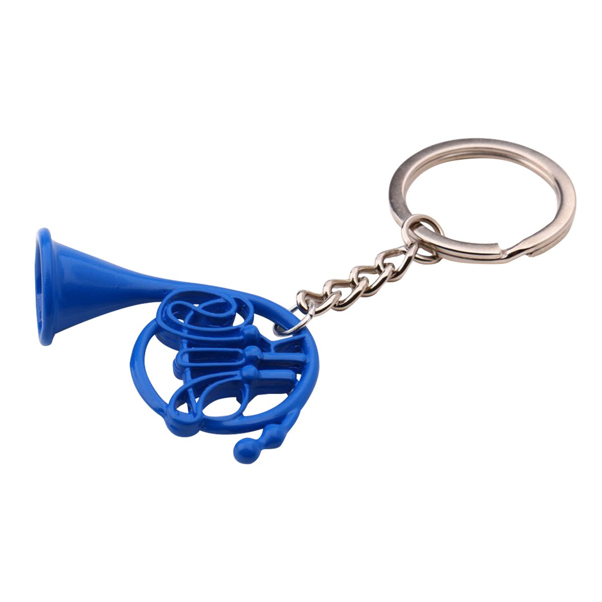Blue French Horn Keychain