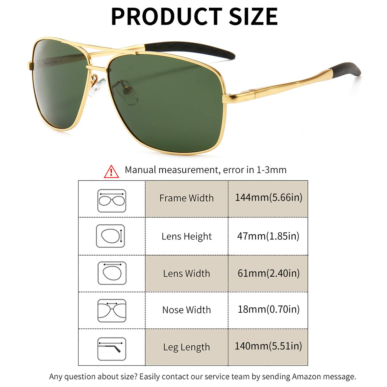 SUNGAIT Mens Polarized Sunglasses Durable Metal Frame for Fishing Driving Golf