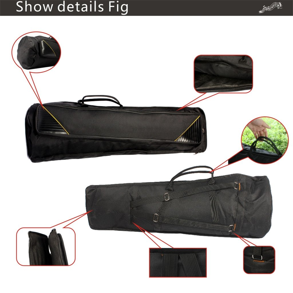 MagiDeal Durable Tenor Trombone Gig Bag Musical Instrument Accessory Carry Bag Backpack Black 35.82inch by MagiDeal (Image #5)