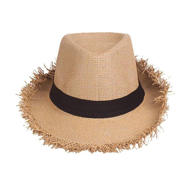 YBWZH - Sombrero de Verano antijazz para Hombre, Color Liso ...