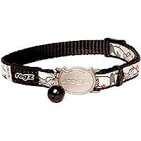 Rogz Reflectocat Safeloc Collar Black Cat 8mm, x-small (RRSCBCXS)