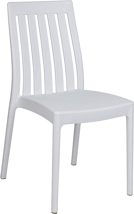 resol grupo Soho Set de 4 sillas de diseño para Interior, Exterior, jardín, Blanco, 4: Amazon.es: Jardín