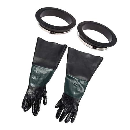 Coppia di guanti da sabbiatura per sabbiatrice FERVI 0580//21