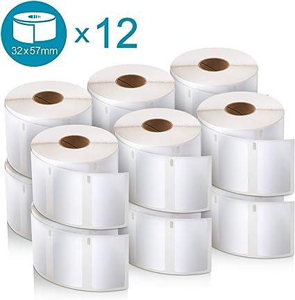 32 x 57 mm per Etichettatrici LabelWriter 12 rotoli da 1.000 Etichette Facilmente Staccabili DYMO LW Etichette Autoadesive Multiuso Originali