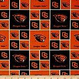 Collegiate Cotton Broadcloth Oregon State University Orange Fabric By The Yard