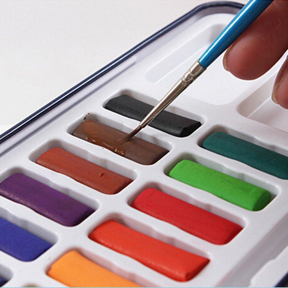 rosenice 12 colores lata caja de metal sólido de acuarela pintura Set con cepillo, hojalata, Assorted Color, 24Colors: Amazon.es: Hogar
