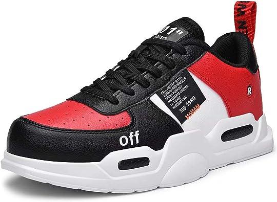FUSHITON Zapatillas Altas de Moda para Hombre y Mujer ...