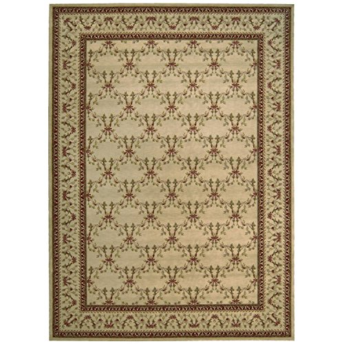 Nourison Ashton House (AS07) Beige Rectangle Area Rug, 2-Feet by 2-Feet 9-Inches (2' x 2'9
