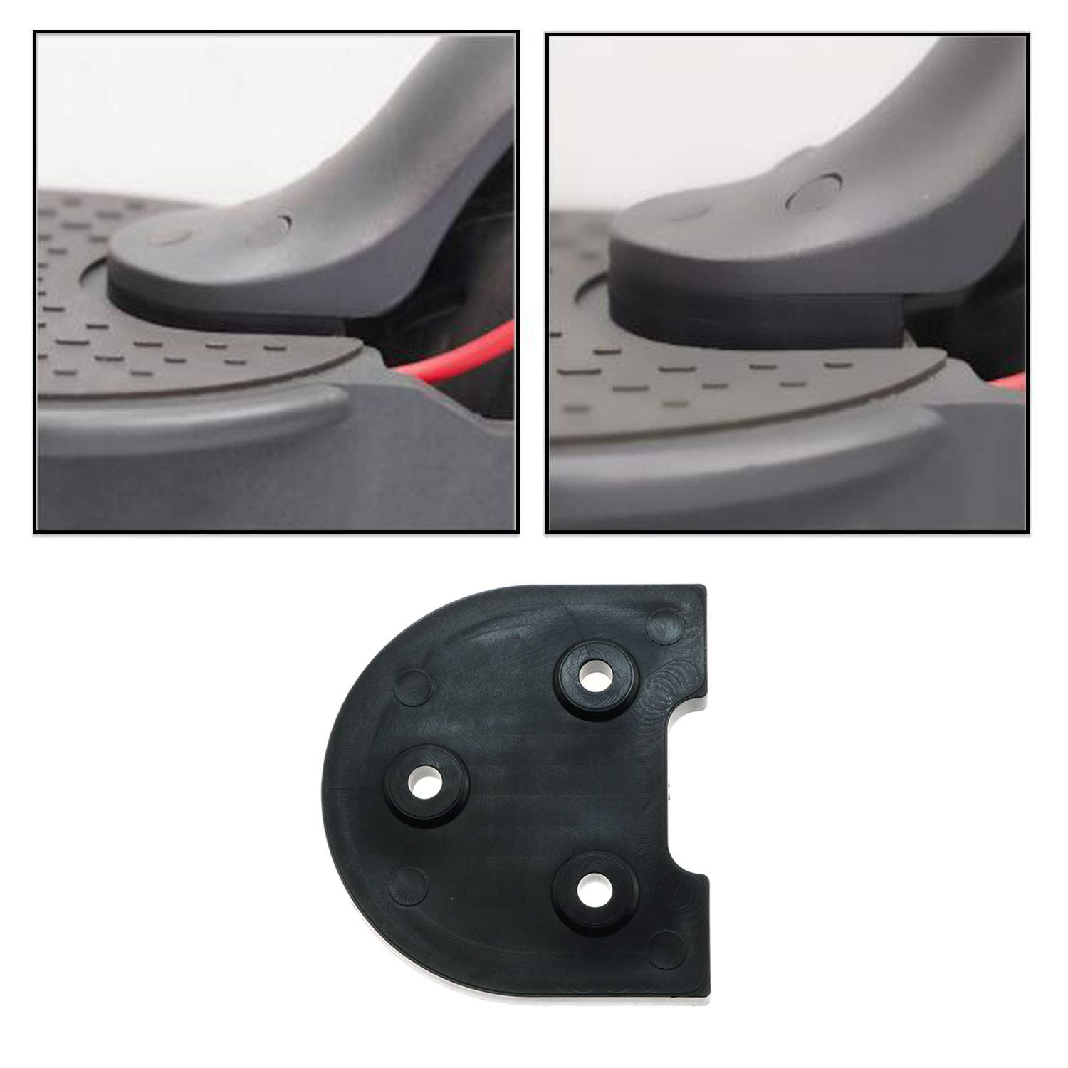 Maxmoral 1Set Scooter Accessories Upgrade Wheel Rear Fender Bracket Gasket for Xiaomi M365 Electric Scooter Black