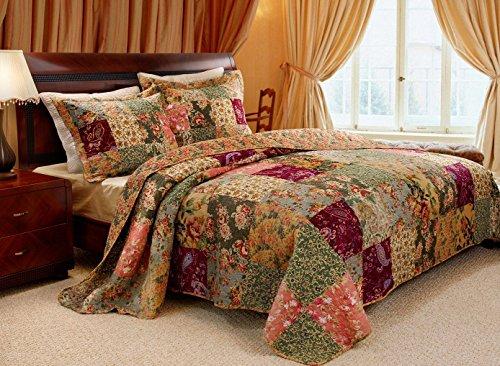 Greenland Home Antique Chic King 3-Piece Bedspread Set (Renewed) ()