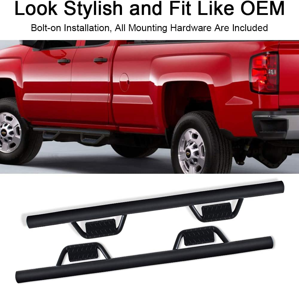 Driver and Passenger Side A/&K Running Boards Side Step Nerf Bars for Chevy Silverado GMC Sierra Double Cab Extended Cab 2007-2018