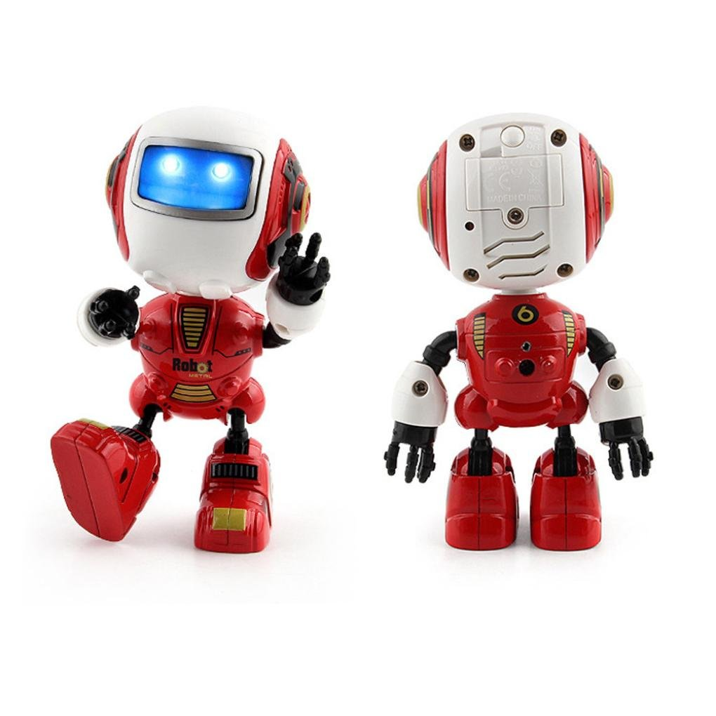 Aurorax Robot Toy, Electronic Walking Dancing Music Smart Toys Lights for Kids (red)
