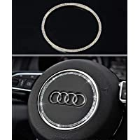 Bling Bling Car Steering Wheel Decorative Diamond Sticker Compatible with Audi (Compatible with Audi - Round)