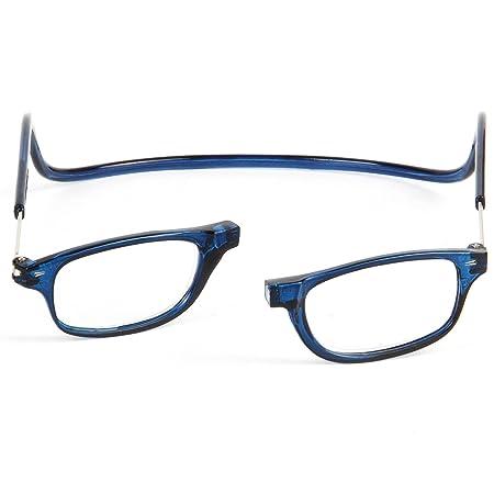 TBOC Gafas de Lectura Presbicia Vista Cansada - Montura Azul Graduadas +3.50 Dioptrías Hombre Mujer Regulables Imantadas Magnéticas Plegables Lentes Aumento ...