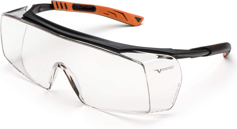 Univet 5X7.01.00.00 Gafas de seguridad, Negro/naranja