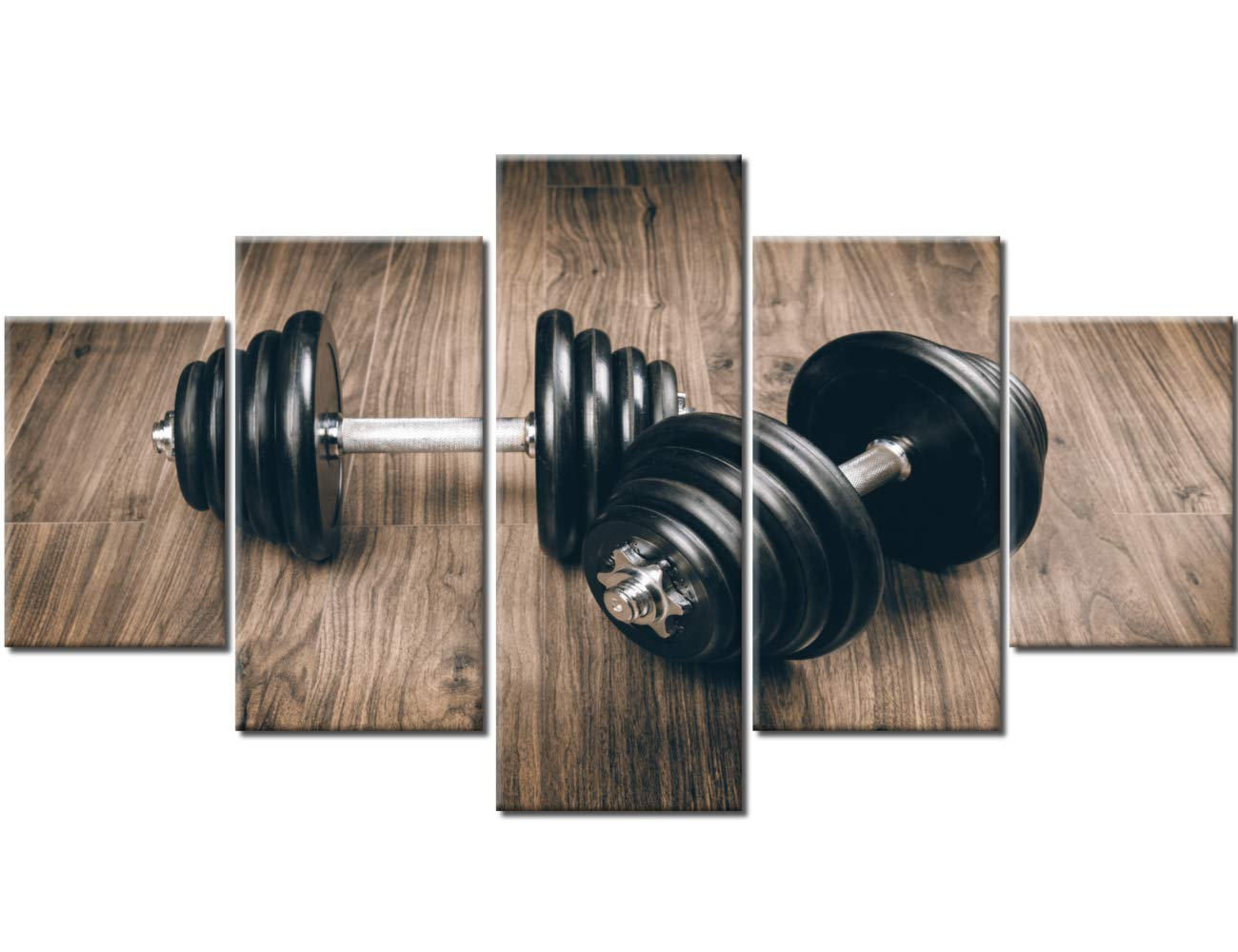 Amazon sports wall decor pictures for living room dumbbells