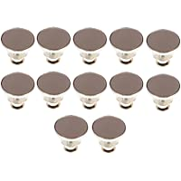 EXCEART 12pcs Instant Jean Button Alloy Jean Button Pin Tack Button No Sew Button to Extend or Reduce Pants Waist Size…