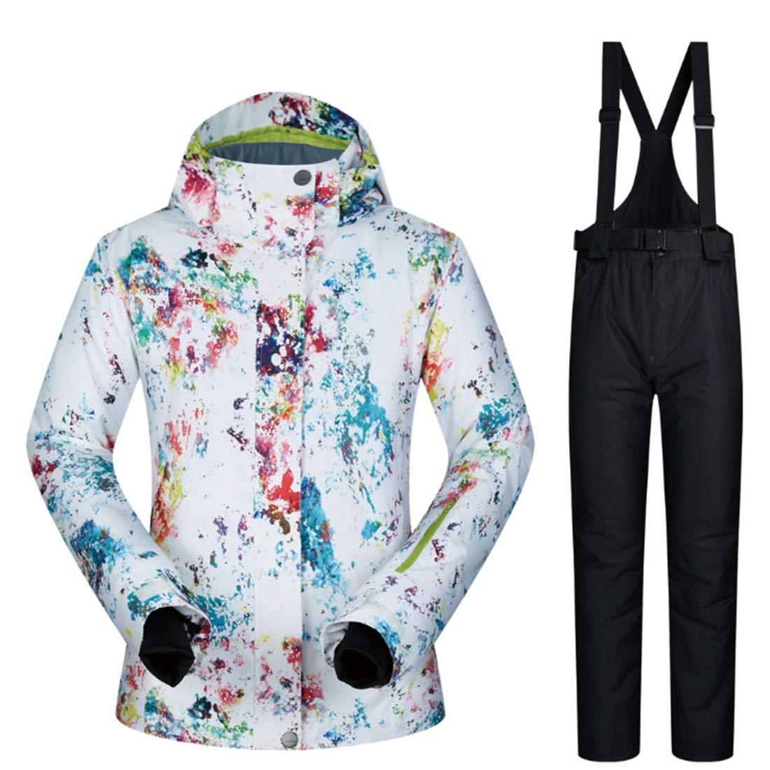 3 XIAMEND Rain Snow Outdoor Hiking Women's Mountain Waterproof Ski Jacket (color   05, Size   S)