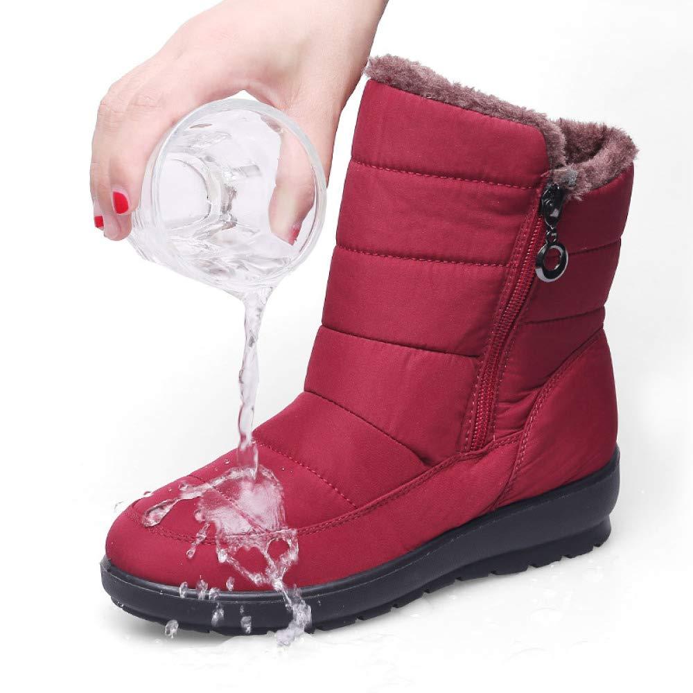 MYXUA Frauen Schneeschuhe Schneeschuhe Schneeschuhe Wasserdichte Rutschfeste Baumwollschuhe 261e92
