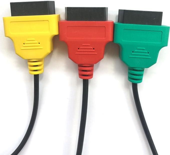 Direcci/ón y Motores Can Airbag ABS hr-tool /® Multiecuscan OBD Cable adaptador 16 pines OBDII FiatECUscan ECU