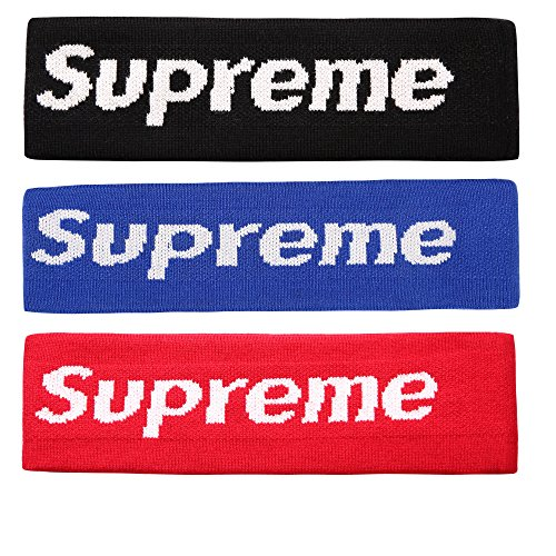 The Mass Sweatband Supreme Headband Perfect for Basketball, Running, Football, Tennis-Fits for Men and Women (Pack of 3)