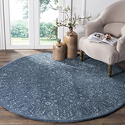 Safavieh Glamour Collection GLM515A Silver and Ivory Area Rug