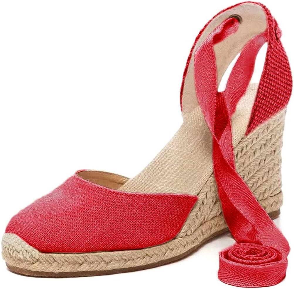 Tomwell Sandalias Mujer Cuña Alpargatas Moda Bohemias Romanas Sandals Rivet Playa Verano Tacon Zapatos