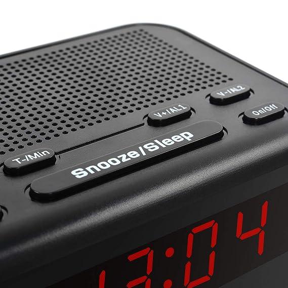 Amazon.com: GHKL LED Fantastic Fm Radio Digital Clock Alarm Clock with Snooze Fuction Compact Modern Design Reloj Digital Pared: Home & Kitchen