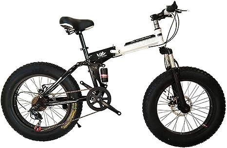 WJSW Bicicleta de montaña Plegable de 20/26 Pulgadas, 27 ...