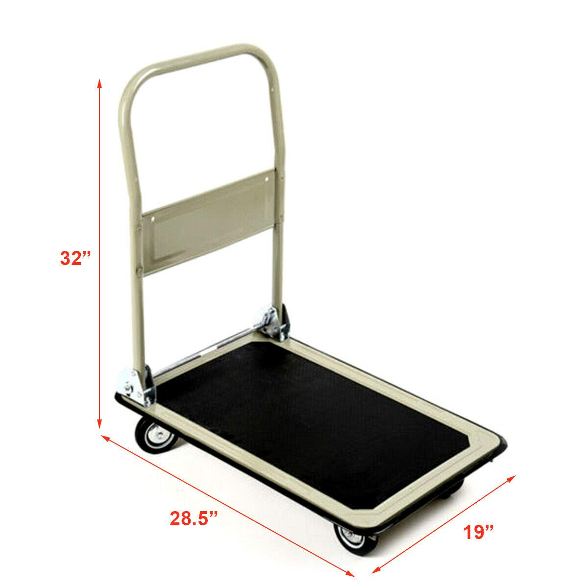 Gray 330lbs Platform Cart Folding Foldable Dolly Push Hand Truck Moving Warehouse Transport Heavy Large Loads(U.S. Stock) by Heize best price (Image #3)