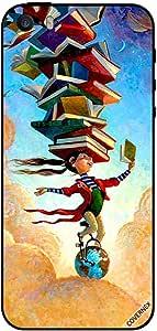 حافظة لجهاز آيفون 5 فتاة على غلوب مع كتب