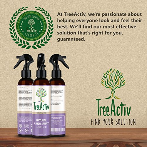 TreeActiv Natural Linen Spray | Kills Acne Causing Bacteria | Eliminates Odors | Fabric, Bedding, Clothing, Carpet & Furniture Refresher | (8 fl oz) (Lavender) by TreeActiv (Image #3)
