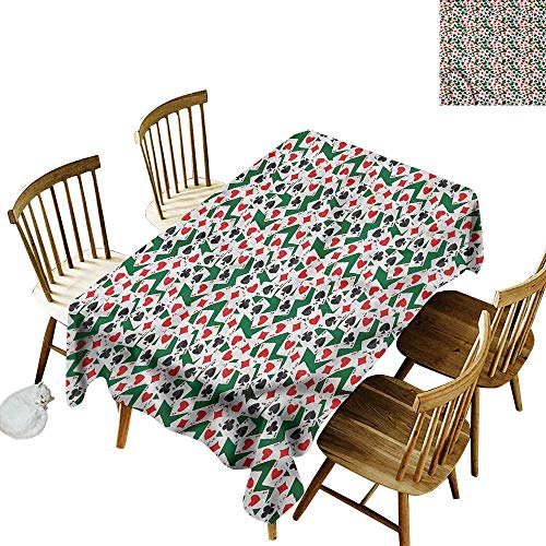 TimBeve Rectangular Tablecloth Poker Ace Cards Scattered on Table Modern Minimalist 60
