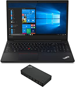 Lenovo ThinkPad E595 Home and Business Laptop (AMD Ryzen 5 3500U 4-Core, 8GB RAM, 256GB PCIe SSD + 1TB HDD, AMD Vega 8, Win 10 Pro) with Lenovo ThinkPad USB-C Dock Gen 2 (40AS0090US)