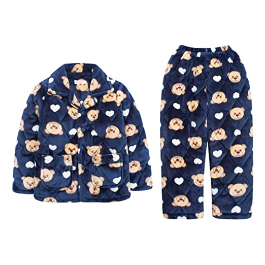 Pijamas dos piezas Pijama Niños Invierno Engrosamiento Coral Polar ...