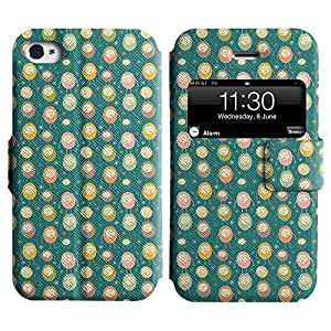 AADes Scratchproof PU Leather Flip Stand Case Apple iPhone 4 / 4S ( Small Monster )