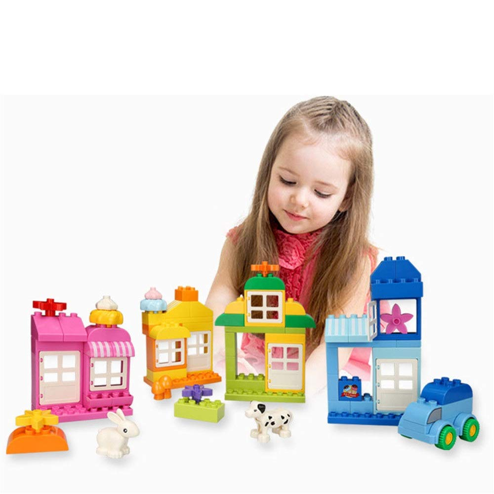 ZnMig Children 3-12 Years Old Big Grain City Building Blocks Puzzle Building Blocks Children's Toys Early Education Puzzle Building Blocks Toys (Color : Multi-Colored, Size : One Size)
