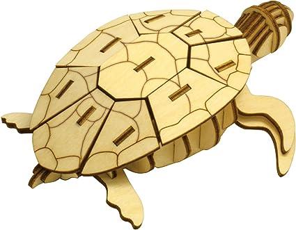 Amazon Com Wooden Art Ki Gu Mi Sea Turtle Japan Import By Azone International Toys Games