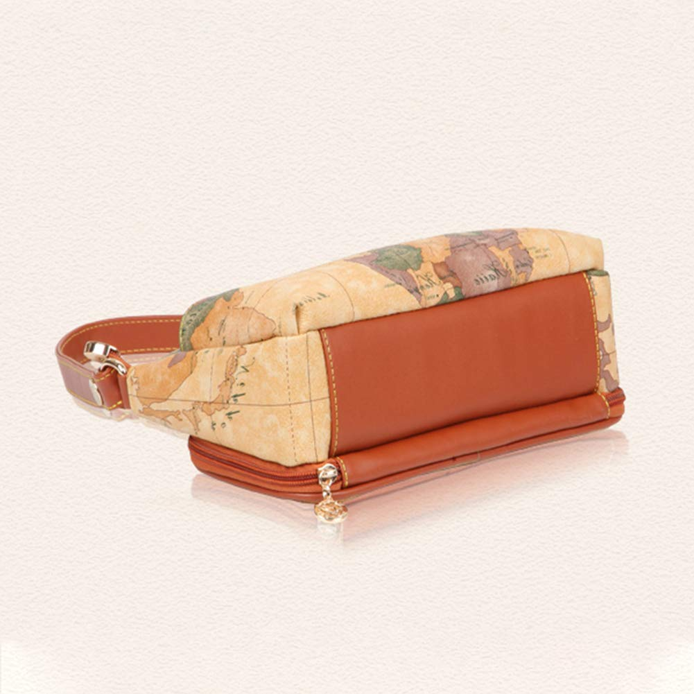 Purse and Handbags for Women Map Fashion Shoulder Crossbody Bags with Adjustable Strap