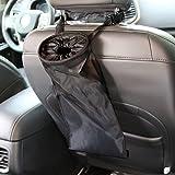 IPELY Universal Car Vehicle Back Seat Headrest Litter Trash Garbage Can (Black)