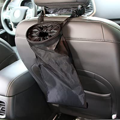 IPELY Universal Car Vehicle Back Seat Headrest Litter Trash Garbage Can