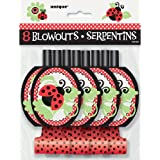 Ladybug Party Blowouts, 8ct