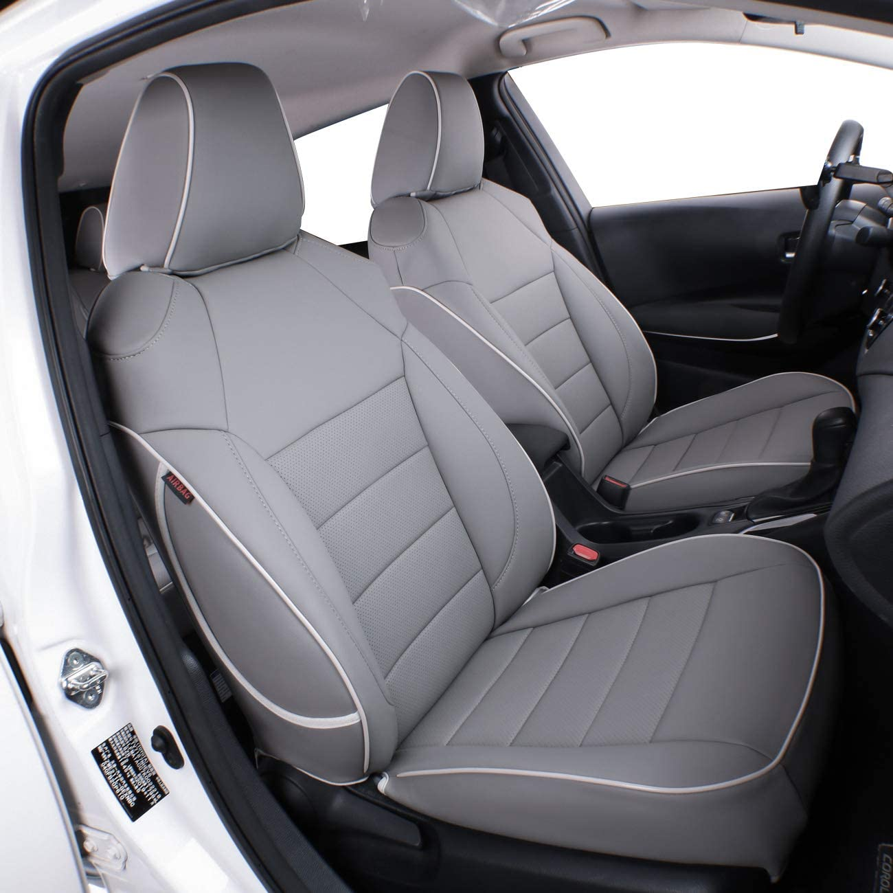K3-Gray LUCKYMAN CLUB 31-K3 Custom Seat Covers Fit for 2014-2019 Corolla LE//SE//L,Full Set with Faux Leather