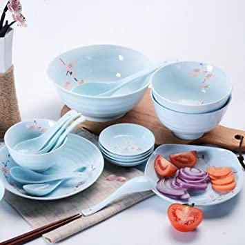 LZK Underglaze Color Platos de vajilla Japonesa Set casa Plato de arroz  Ciruela Plato de cerámica a1cecbff5af
