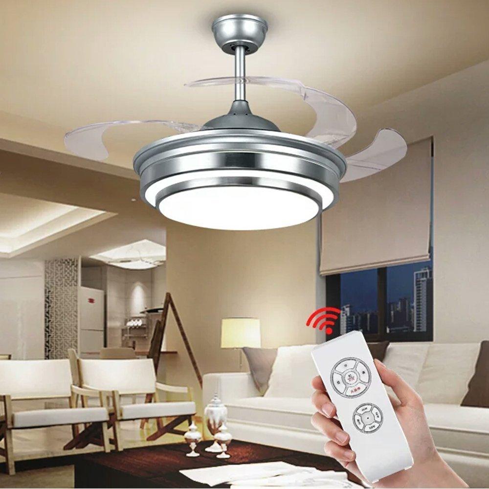 Amazon.com: KALRI Moderna lámpara de techo con ventilador ...